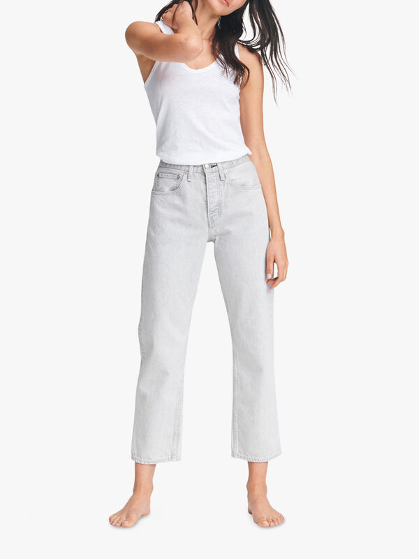 Maya High Rise Ankle Straight Jeans