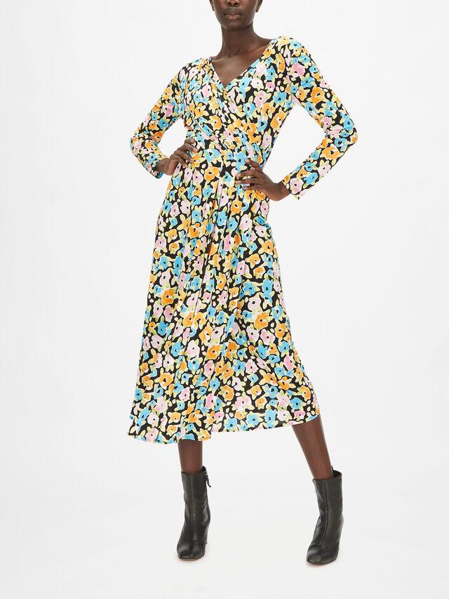 Lola Floral Print V-neck Midi Dress
