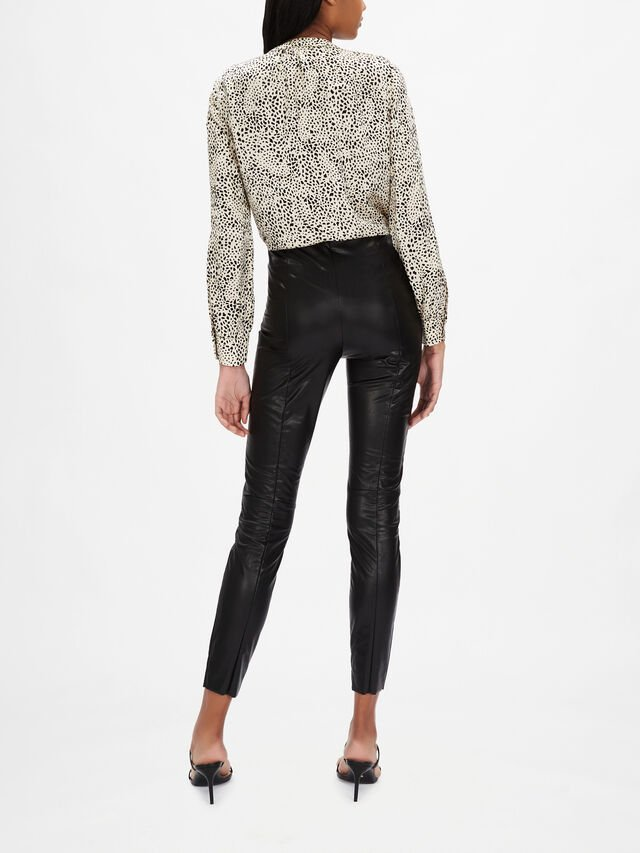 Pleather Pull On Trouser
