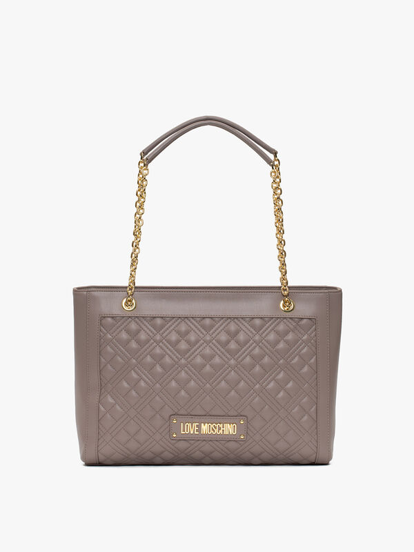 Quilted Shopper with Chain Strap