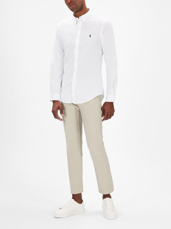 Slim Fit Long Sleeve Chino Shirt
