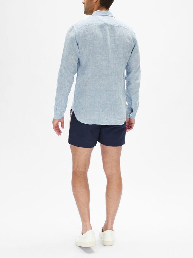 Giles Linen Tailored-Fit Shirt