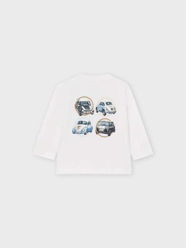 Long Sleeve Cars On Back Top