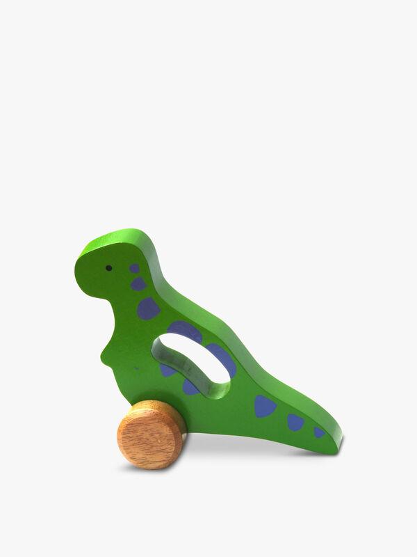 Wooden T-rex Roller