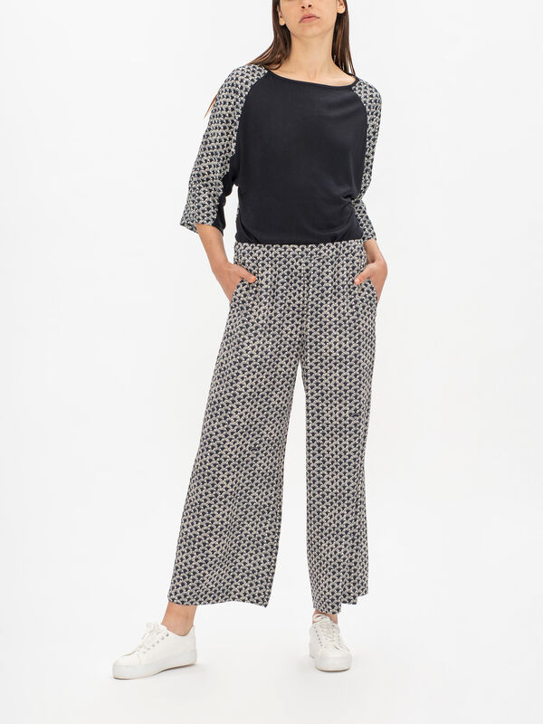 Felix Printed Silk Trouser