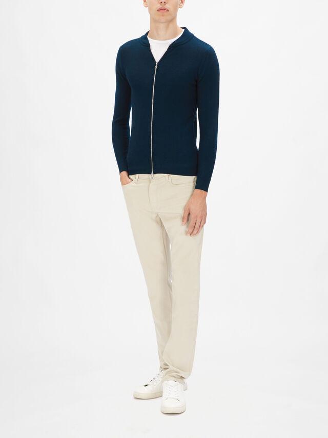 6.Singular Knitted Zip Through Jumper