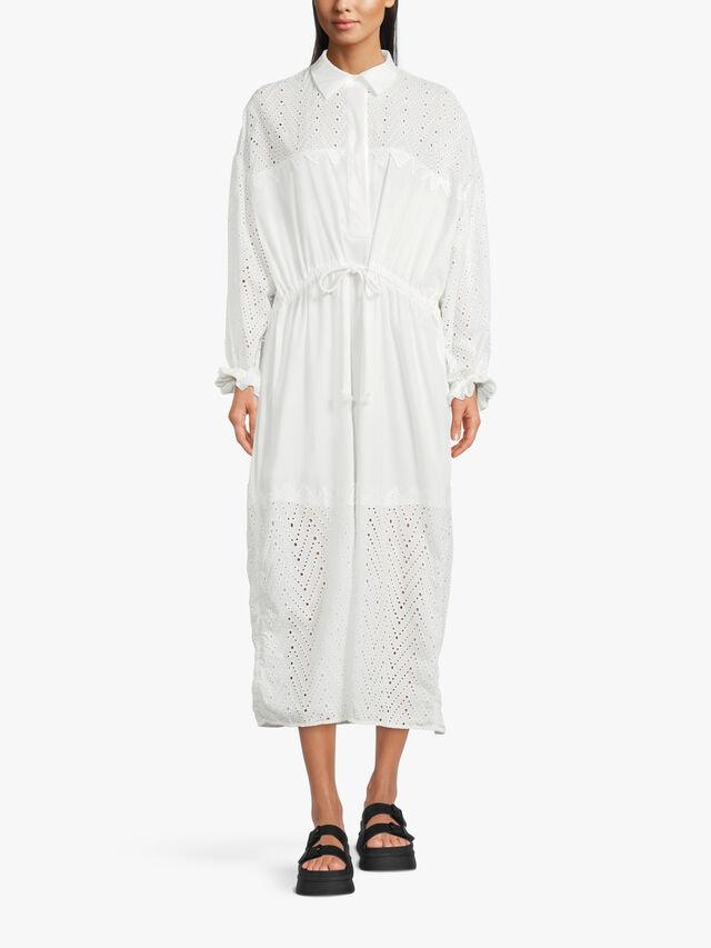 Palmetto Striped Shirt Dress
