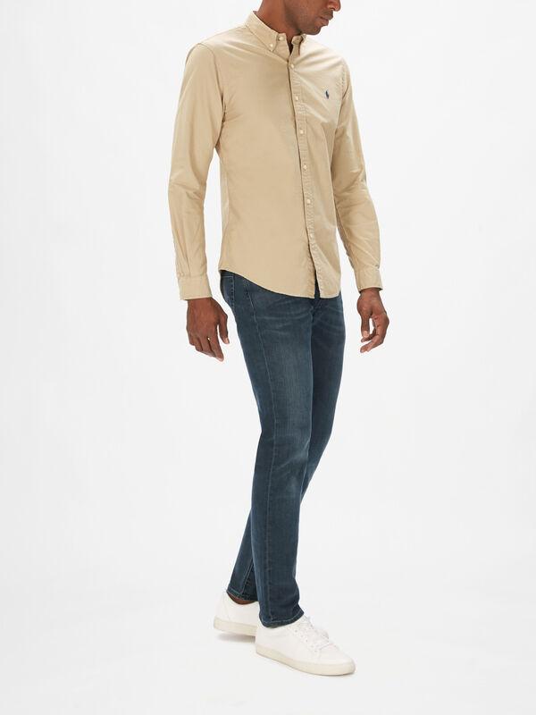 Garment Dyed Long Sleeve Shirt