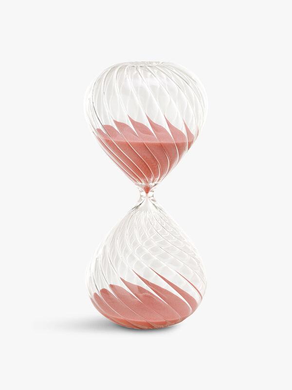 Medium Swirl Pink Sandglass