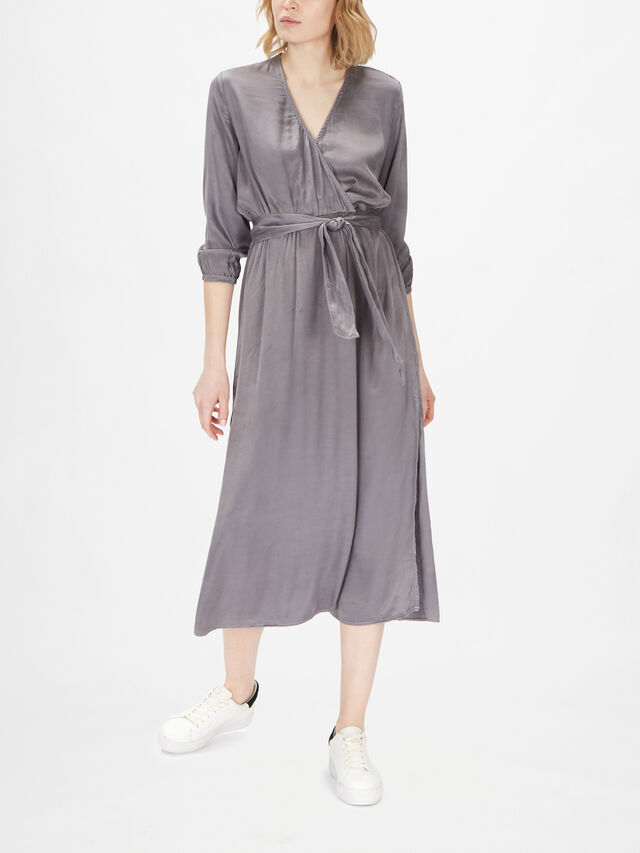 Cross Front Belted Maxi Dress