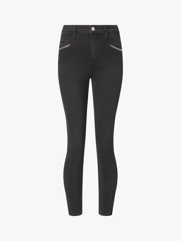 Roxxi Ankle Zipper Trim Jean