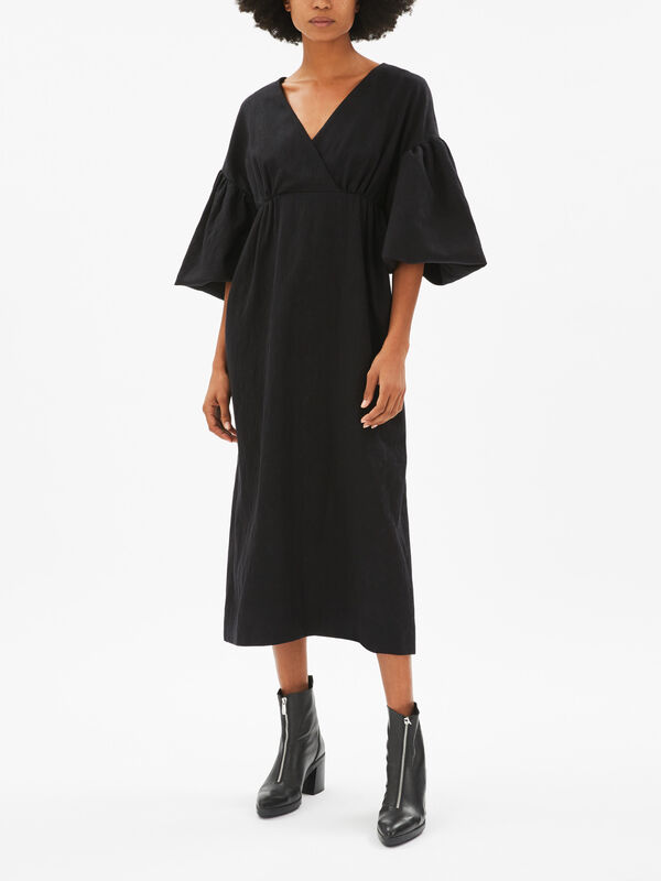 Scarlett V Neck Puff Sleeve Dress