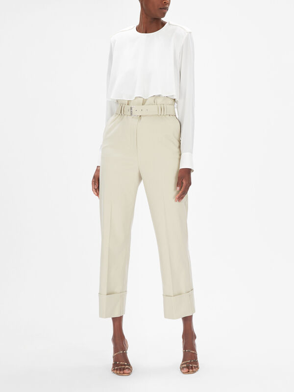 Fronda High Rise Belted Trousers