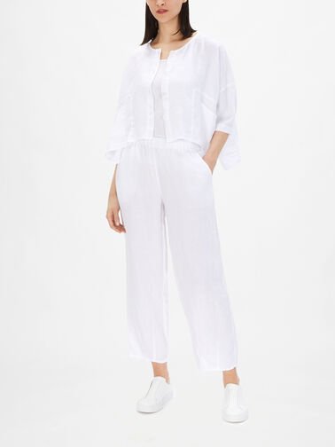 Collarless-Box-Fit-Cropped-Check-Linen-Jacket-71170-L166