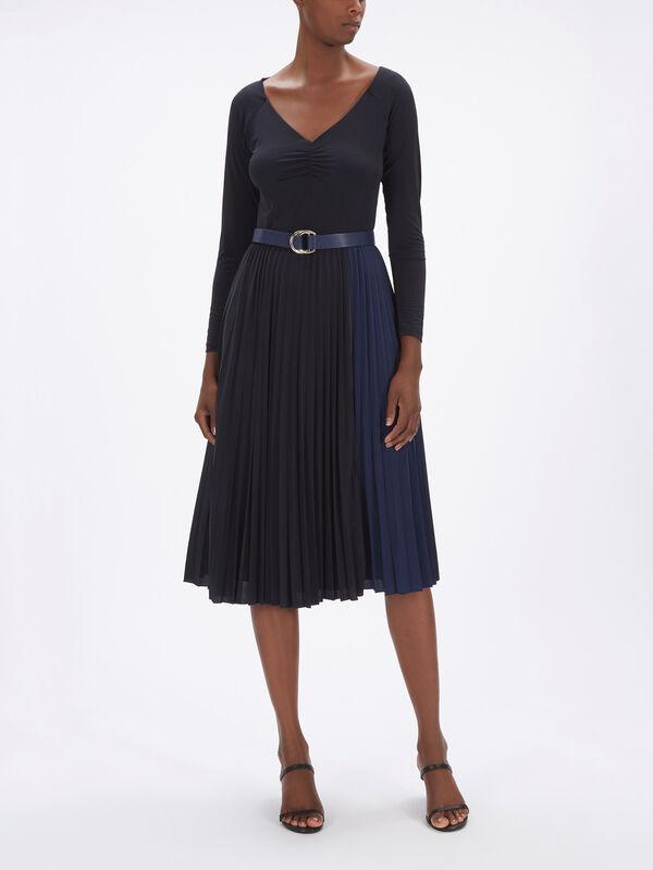 Billy Dress w/Pleated Skirt
