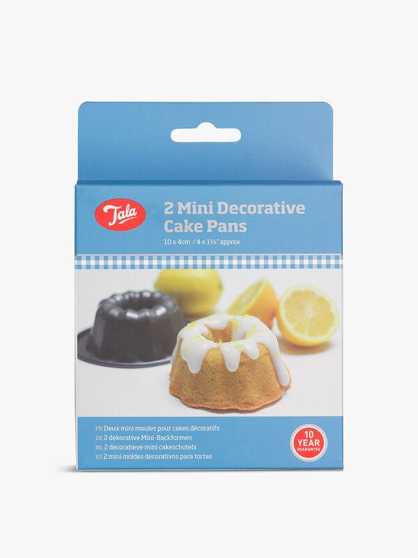 2 Mini Decorative Cake Pan