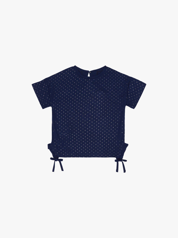 Studded T-Shirt Ruched Sides