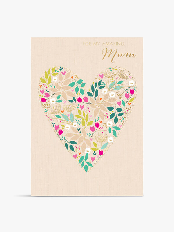 Mum Floral Heart Card