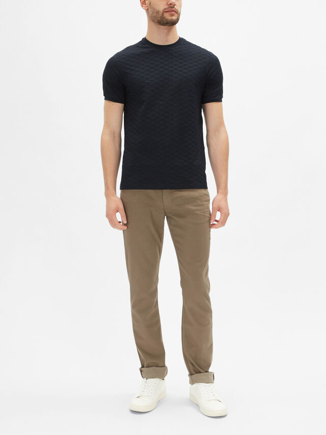Short Sleeve Jacquard T-Shirt
