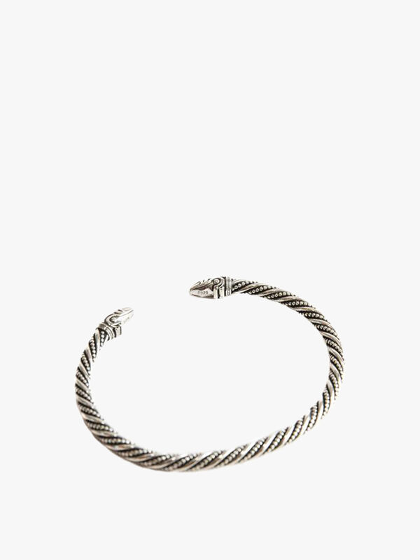 Silver Spiked Detailed Bangle