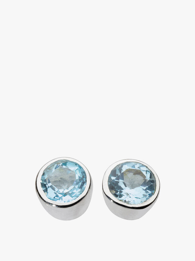 Small Round Stud Earrings
