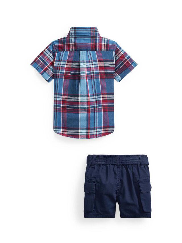 Madras Shorts Set