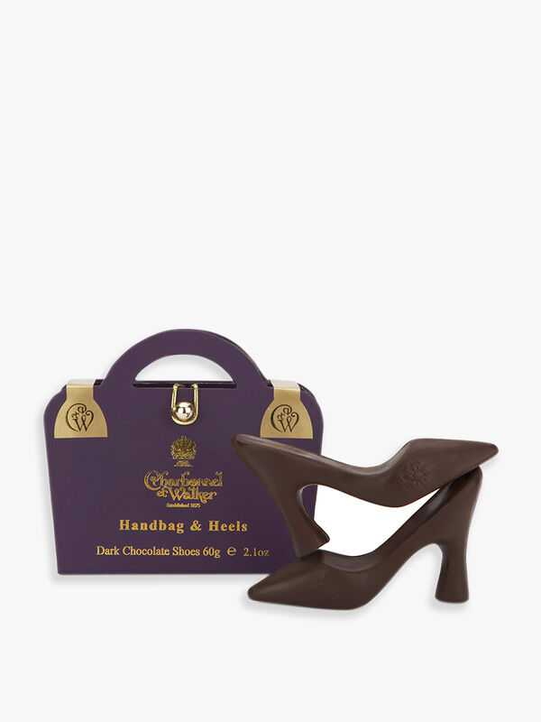 Purple Handbag & Dark Chocolate Shoes
