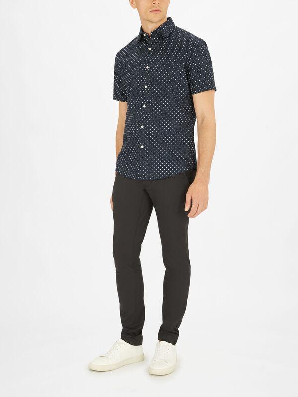 Shortsleeve Dot Print Shirt