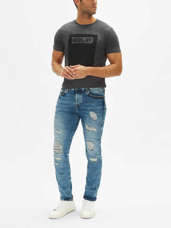 Rocco Motto Rip & Repair Jeans