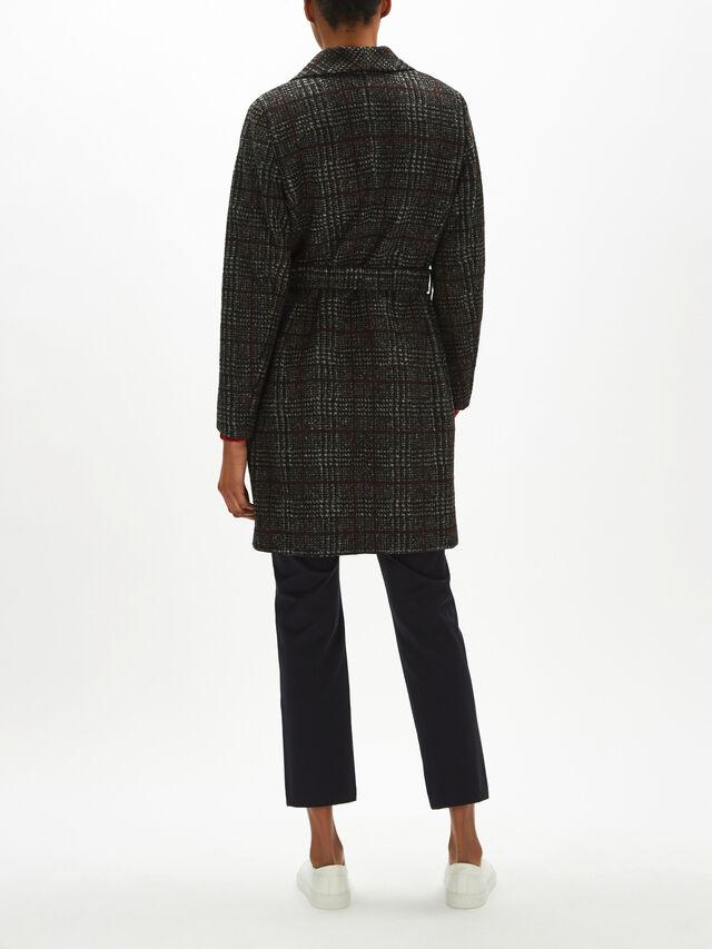 Woven Coat Wool Check