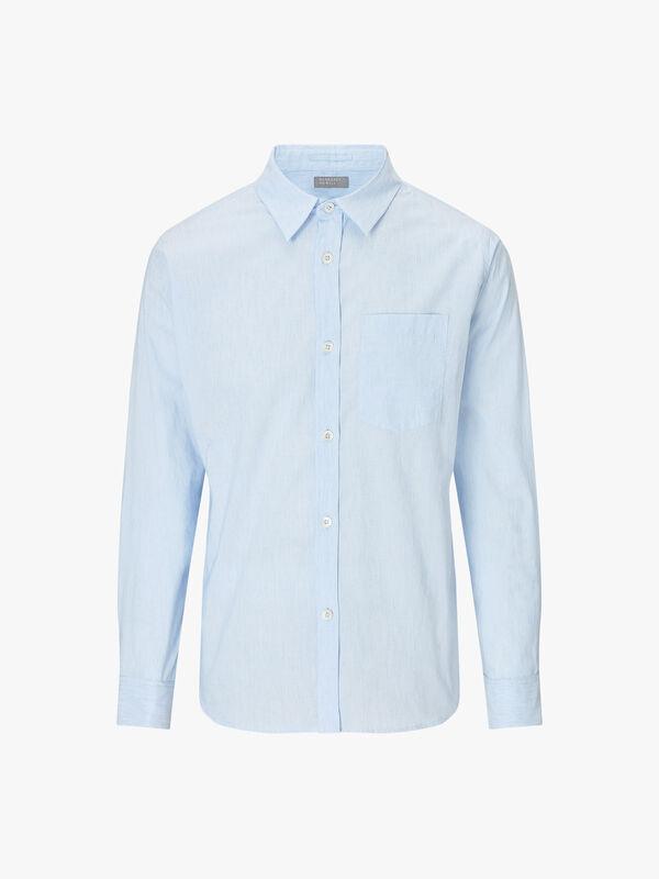 Minimal End on End Cotton Linen Shirt