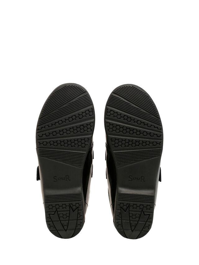 Flair Black Patent School Shoes