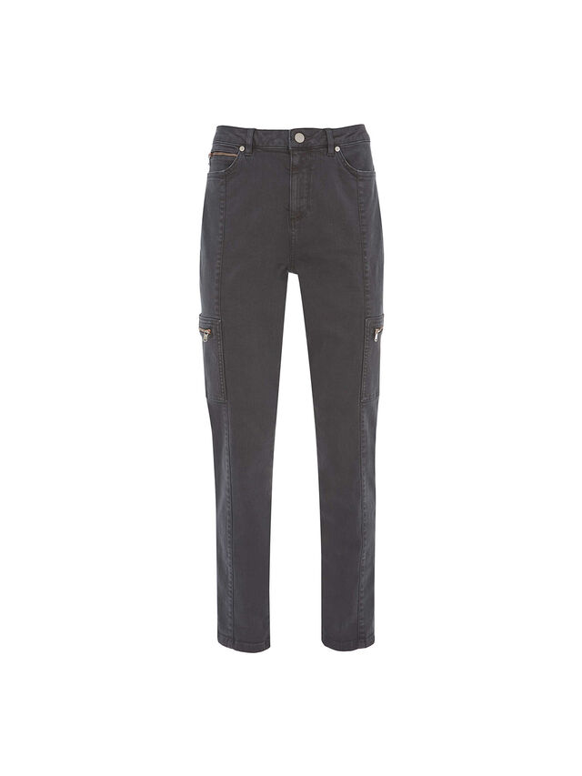 Houston Grey Utility Jeans