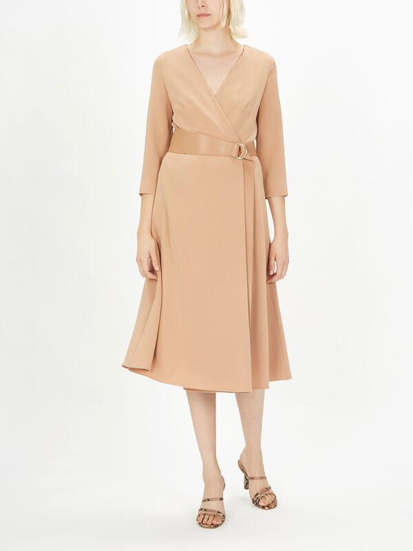 Dorico LS Belted Wrap Dress