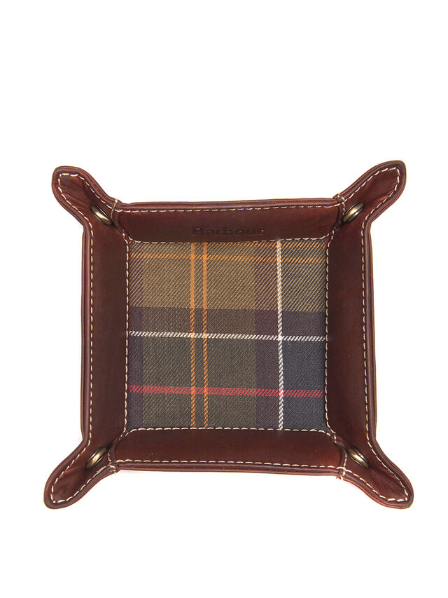 Tartan & Leather Valet Tray