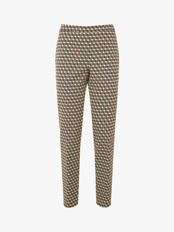 Marcia Cubist Stretch Jacquard Pants