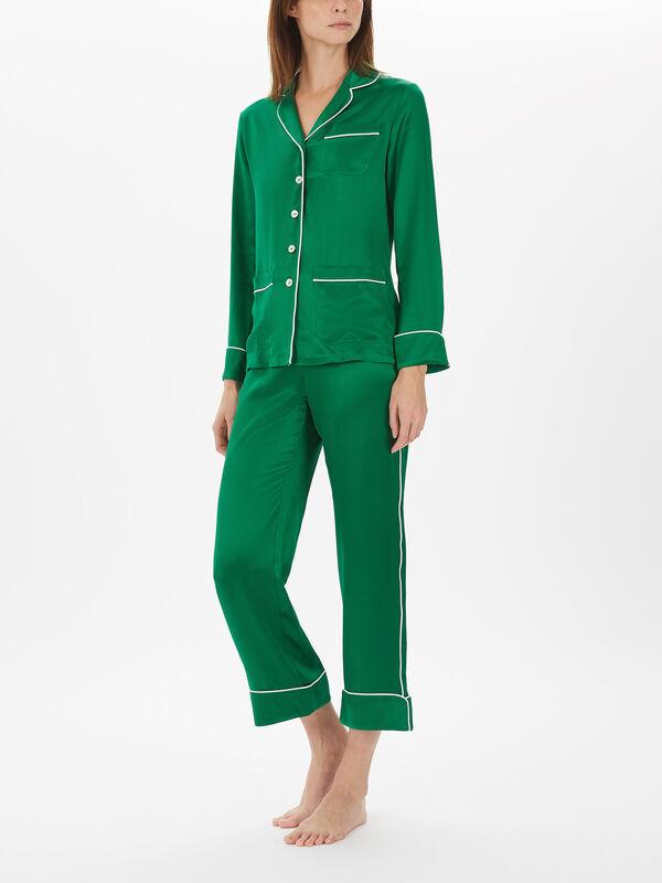 Plain Silk Pyjama Set