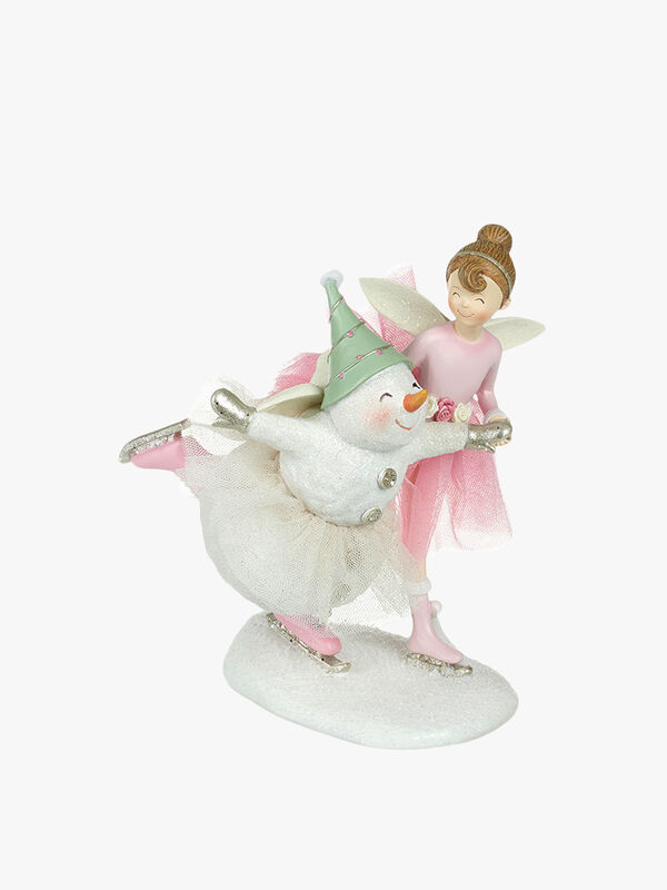 Dancing Girl and Snowman Christmas Decoration