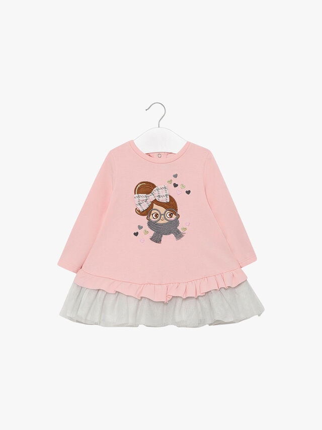 Applique Sweater Dress