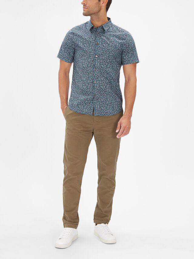 Mini Floral Short Sleeve Shirt