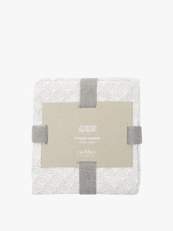 Squares Balloon Muslin - 5 Pack