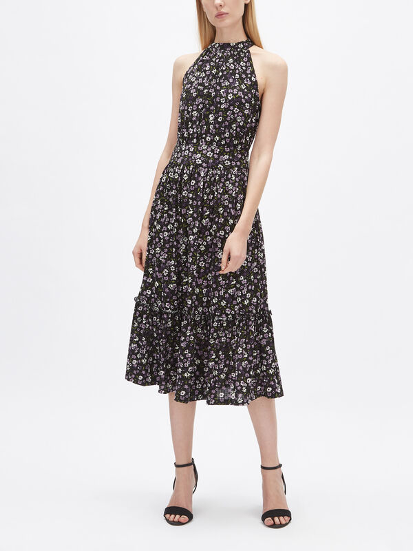Garden Patch Tier Midi Dress