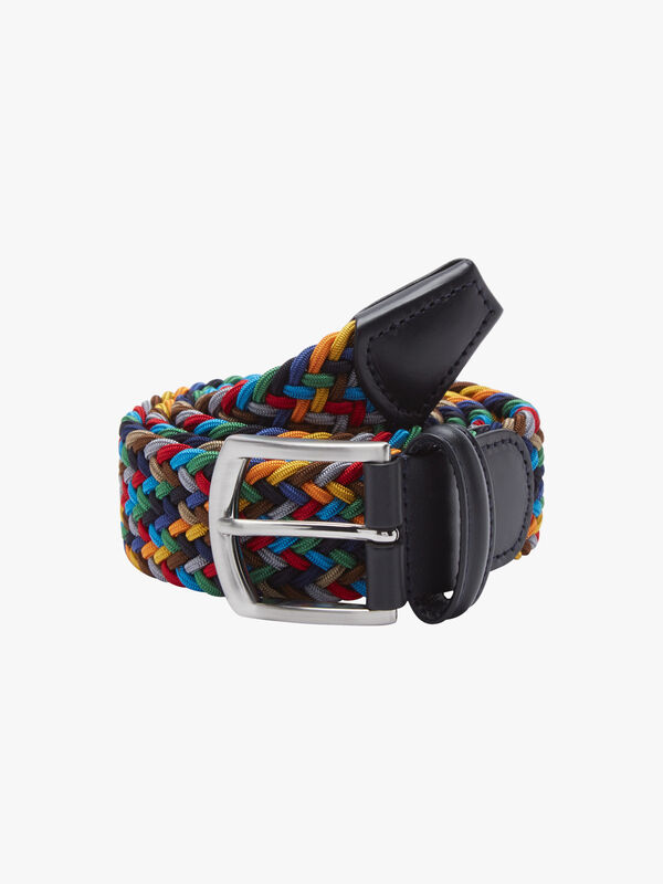 Elasticated Multicoloured Woven Belt