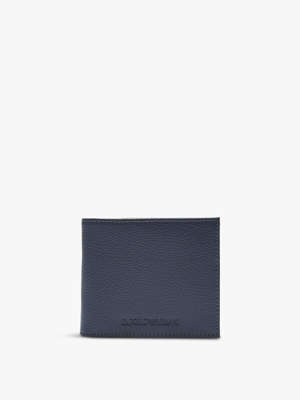 Embossed Logo Leather Wallet