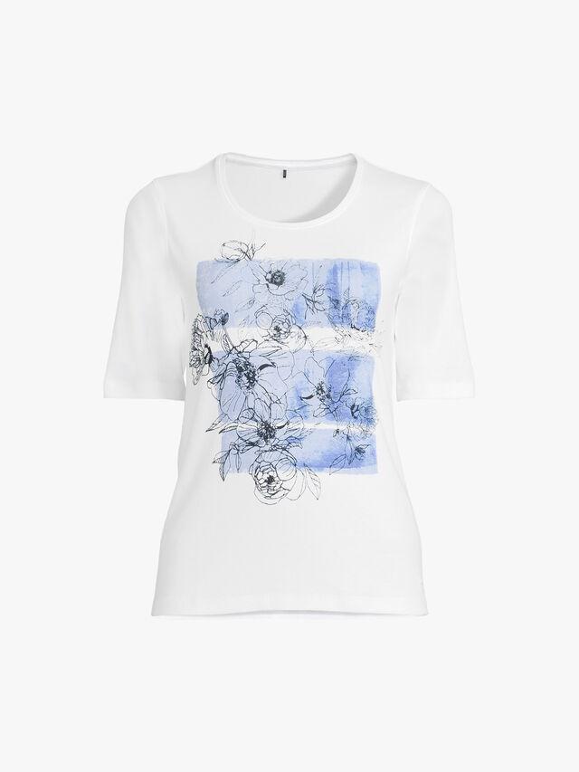 Line Drawing Print T Shirt