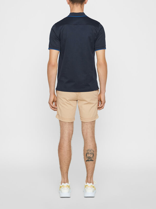 Lewis Flat Pique Zip Polo Shirt