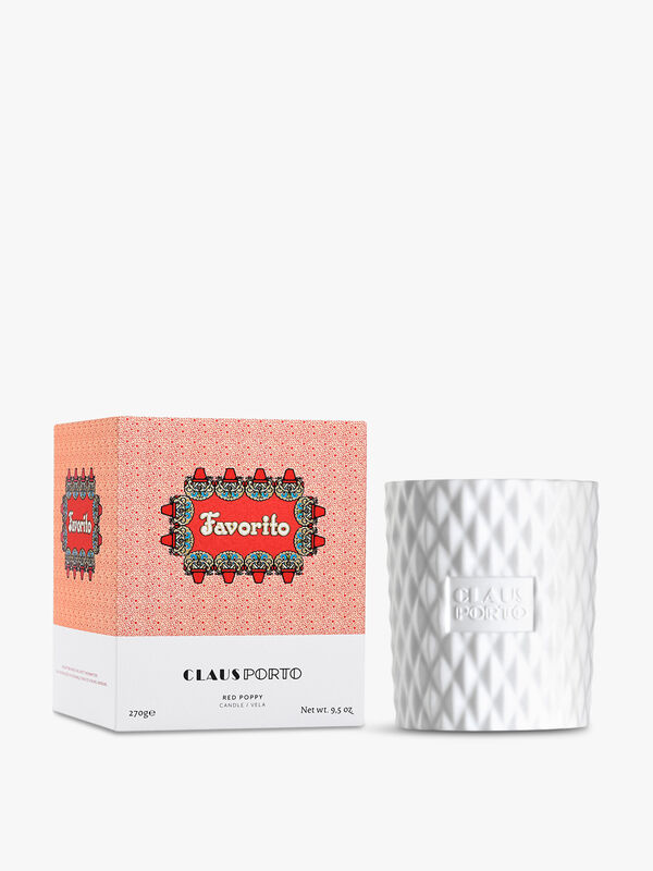 Favorito Red Poppy Candle