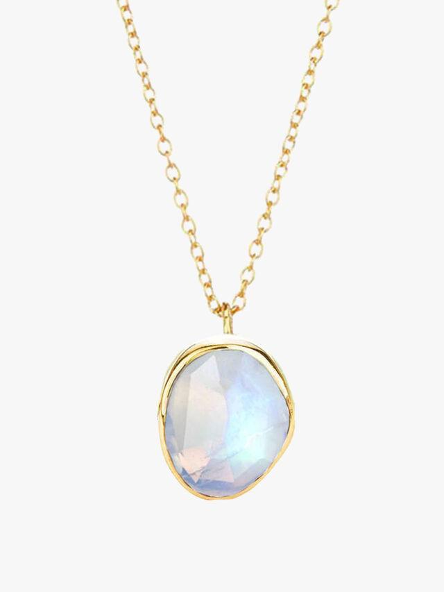 Semi Precious Stone Pendant Necklace