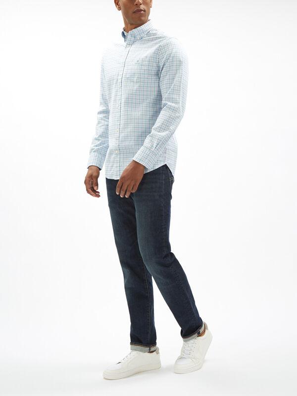 Regular Fit Check Brushed Oxford Shirt