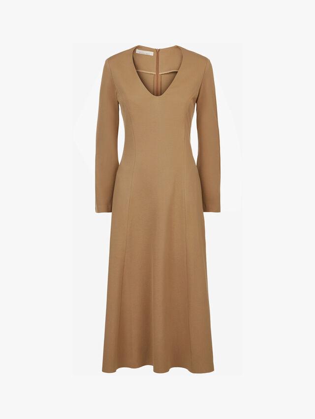 V Neck Midi Dress